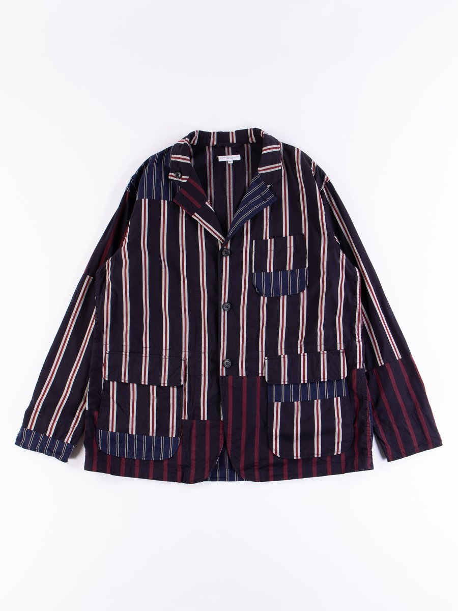 Navy/Red/White Regimental Stripe Loiter Jacket