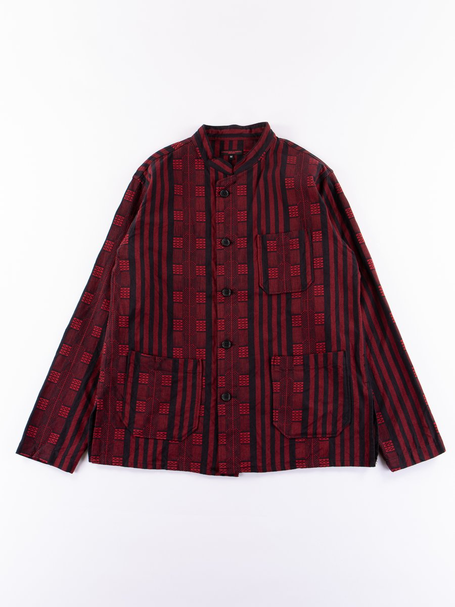 Red/Black Ethnic Stripe Stripe Jacquard Dayton Shirt
