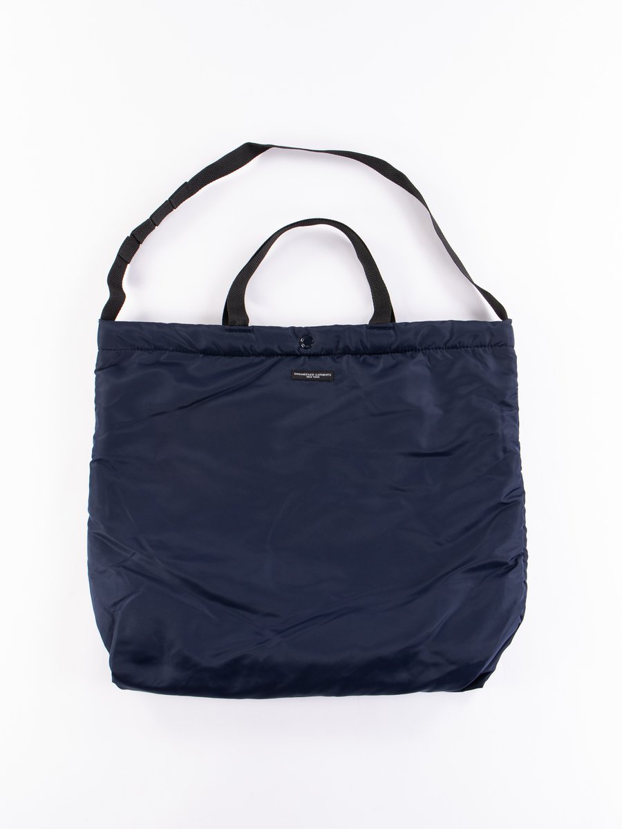 Navy Flight Satin Nylon Carry All Tote