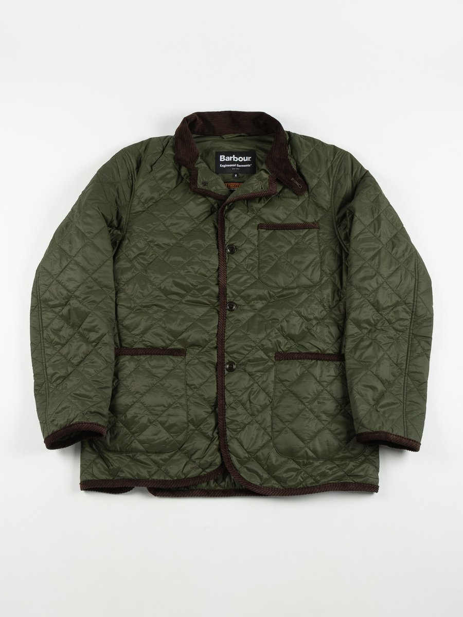 LOITERY QUILTED JACKET OLIVE