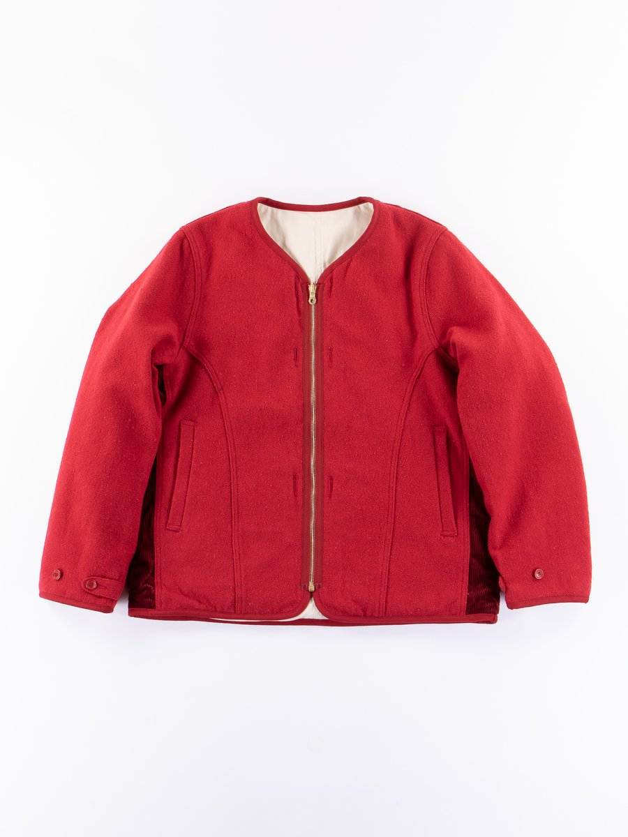 Red Wawona Down Nep Tweed Jacket