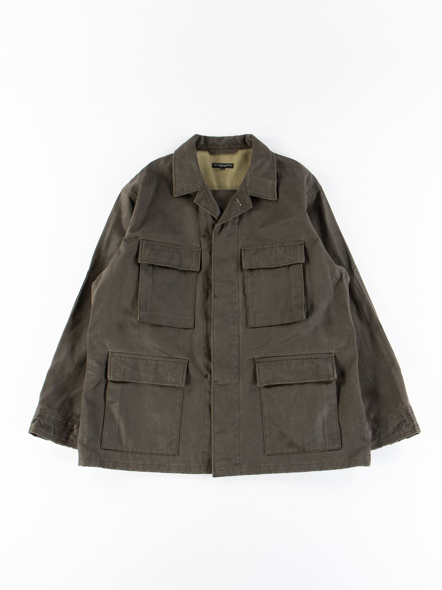 Dark Olive Coated Twill BDU Jacket