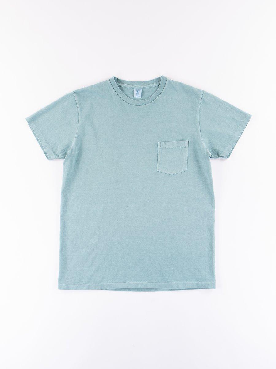 Blue/Grey Pigment Dye Pocket Tee