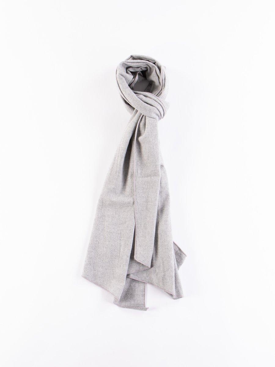 Light Grey Brushed Cotton Long Scarf