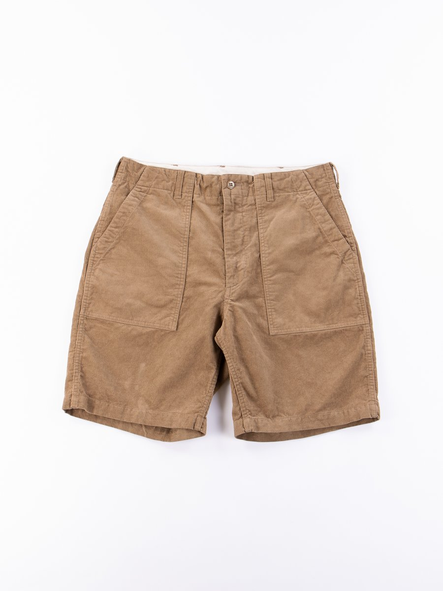Khaki 14W Corduroy Fatigue Short