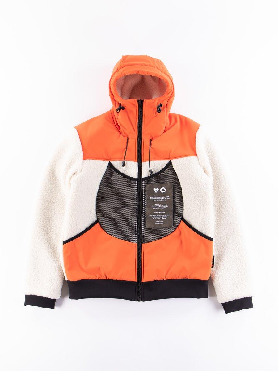 Orange Reversible Hooded Jogger