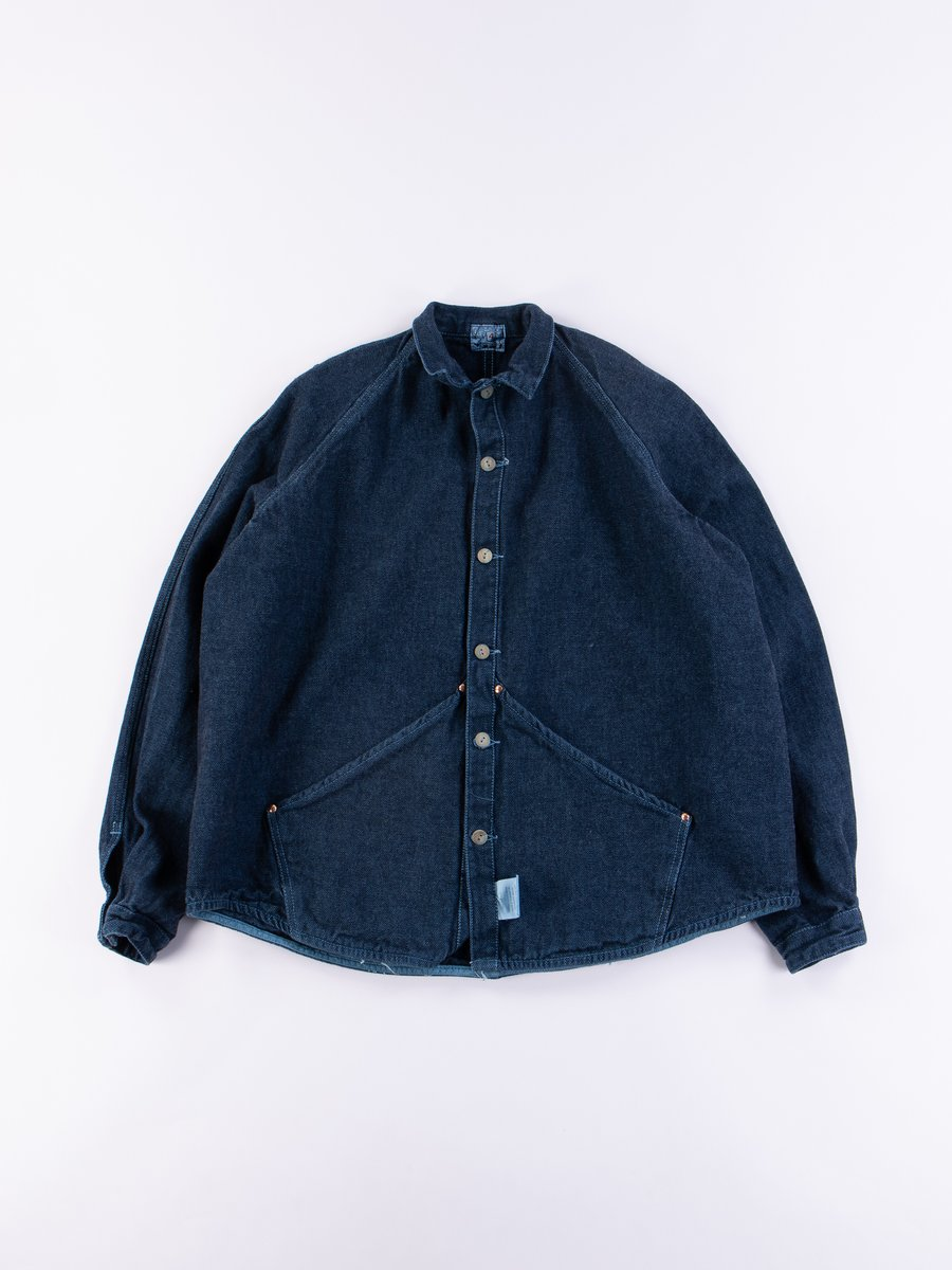 Prussian Blue Dye Taunton Raglan Wallaby Jacket