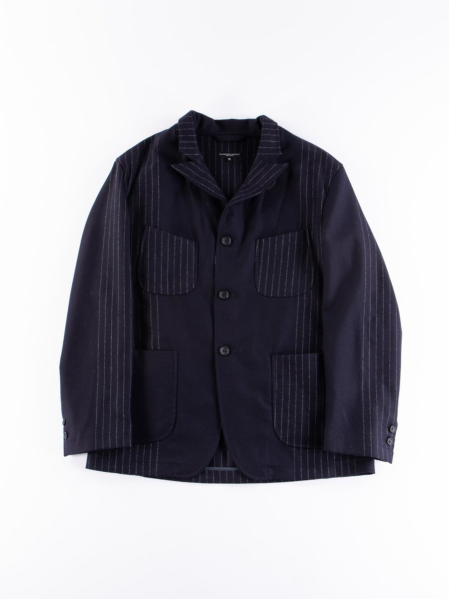 Dark Navy Wool Chalk Stripe NB Jacket