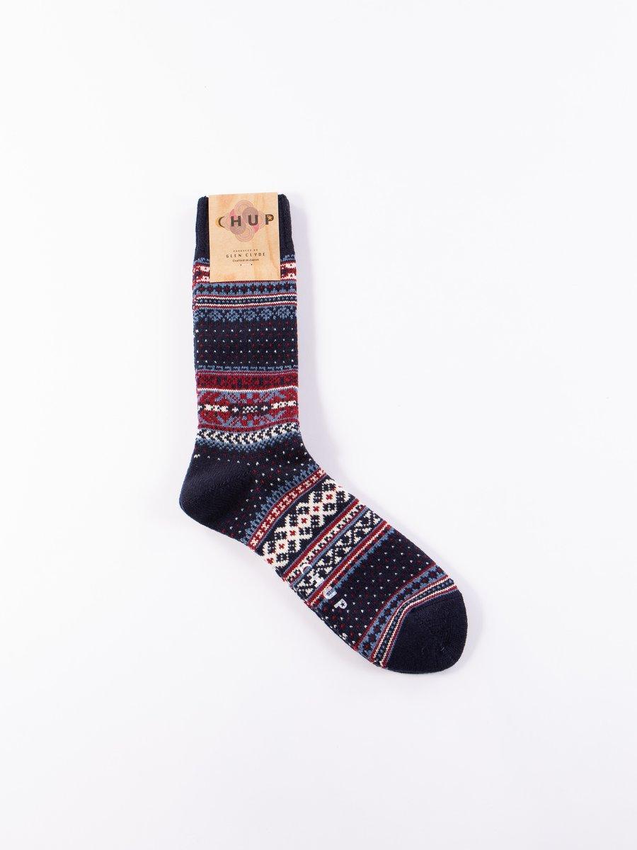 Navy Ceret Socks