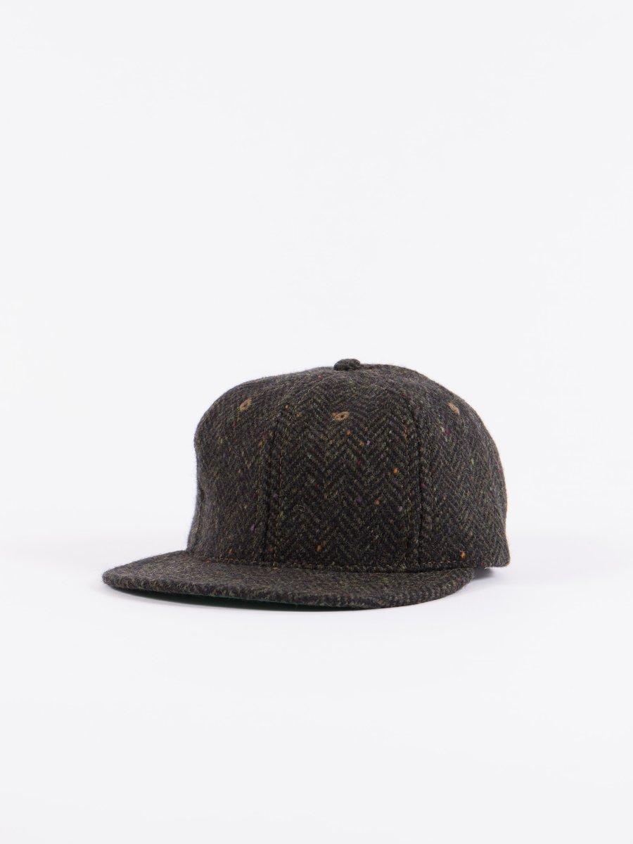 Olive HB Tweed NIer 6 Panel Ballcap