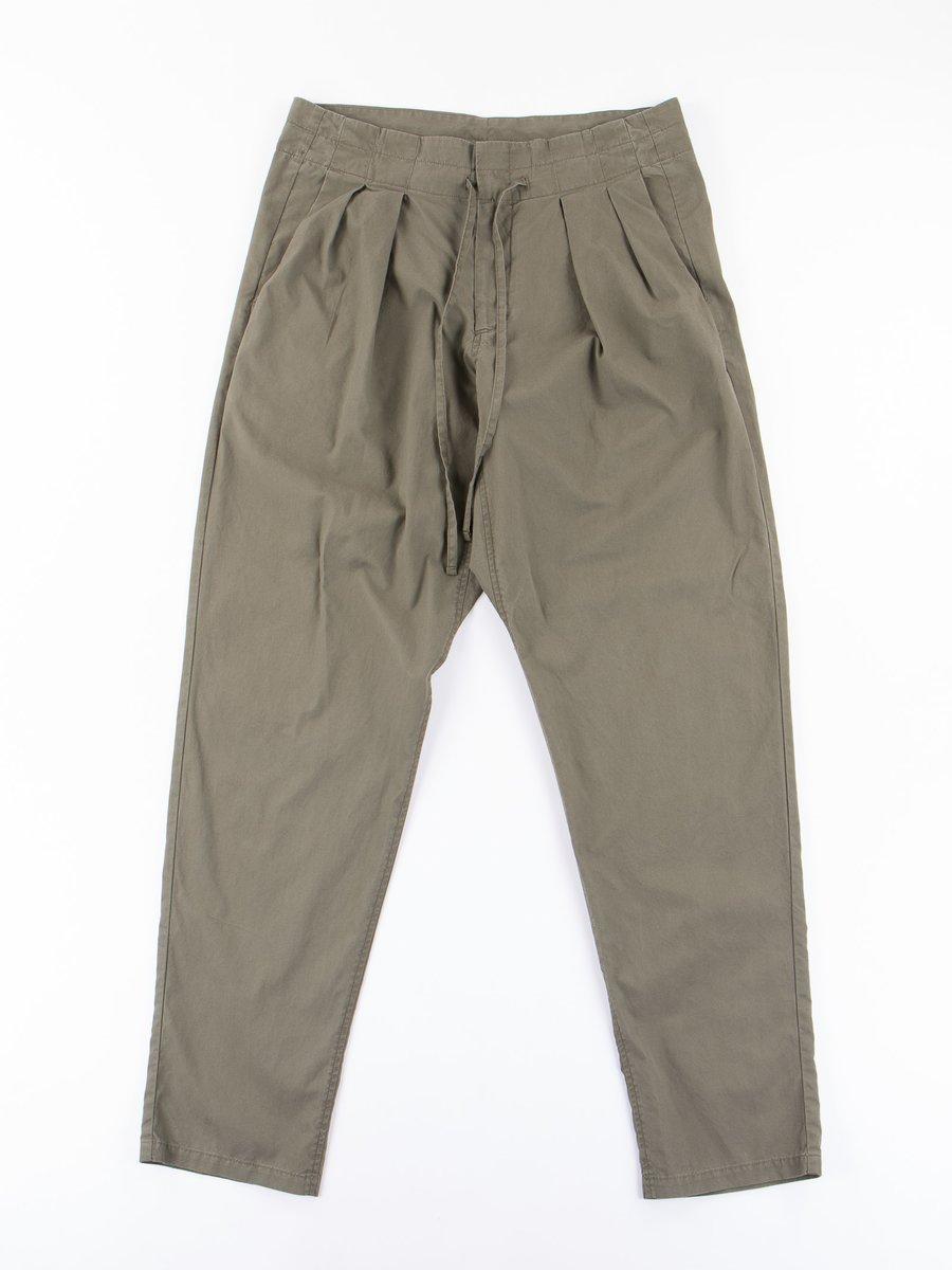 Olive Vancloth Poplin Drop Crotch Pant