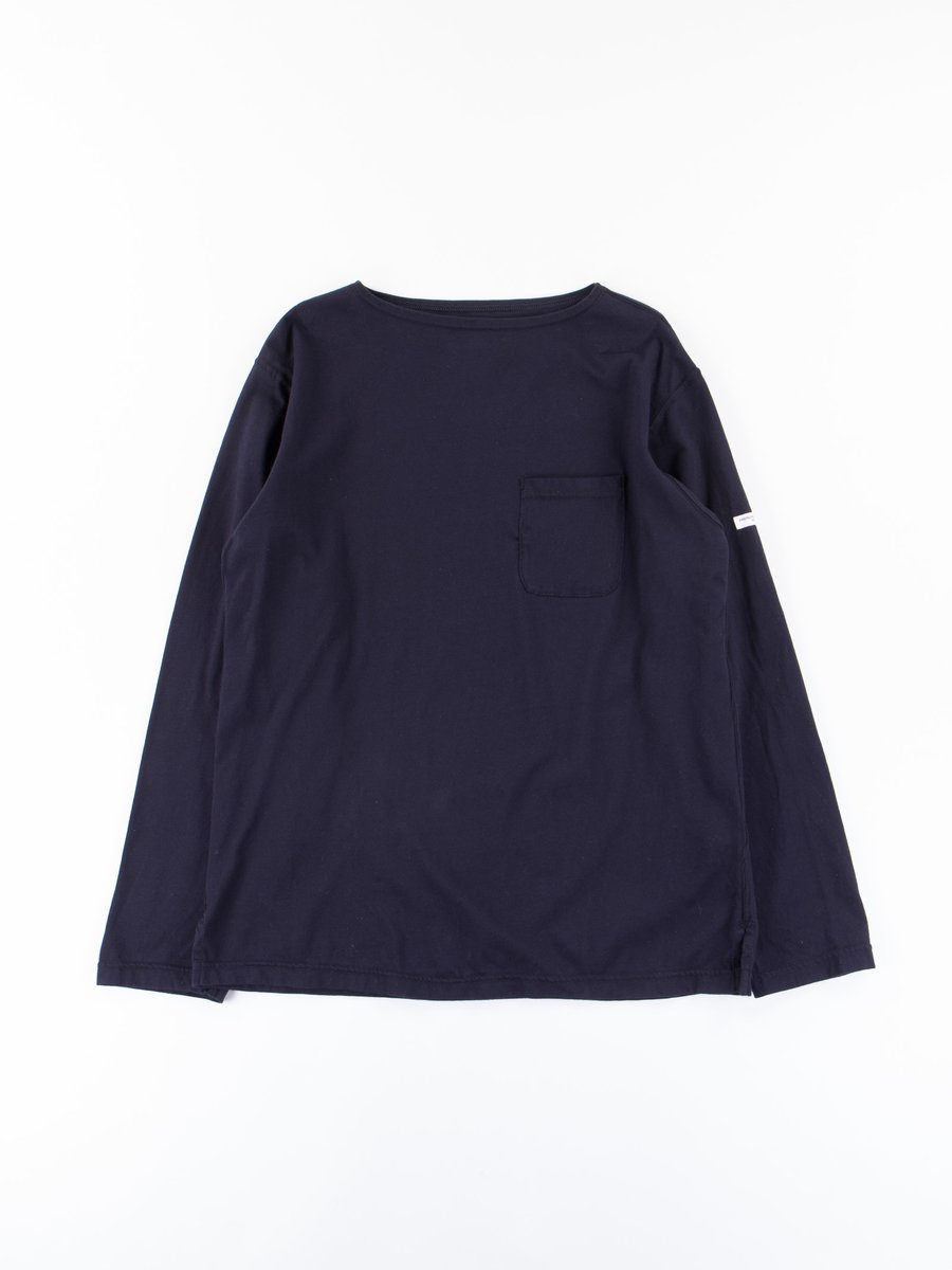Dark Navy Cotton Jersey Bask Shirt