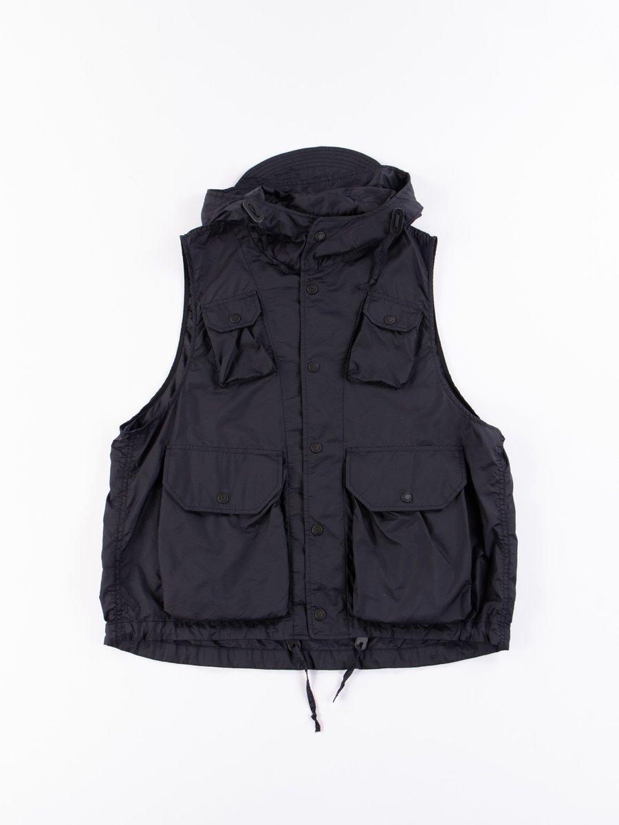Dark Navy Nylon Micro Ripstop Field Vest