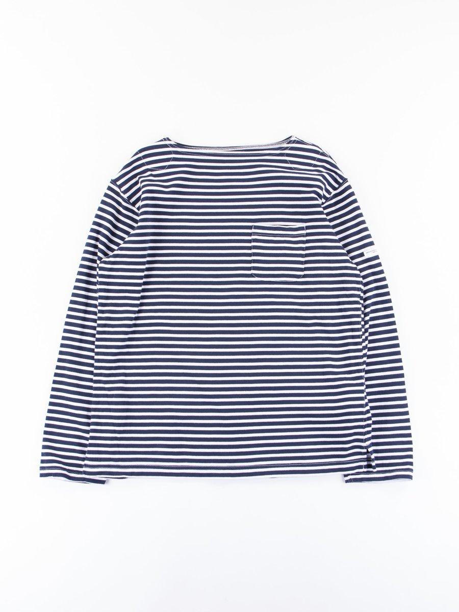 Dark Navy/White Wide Stripe Cotton Bask Shirt