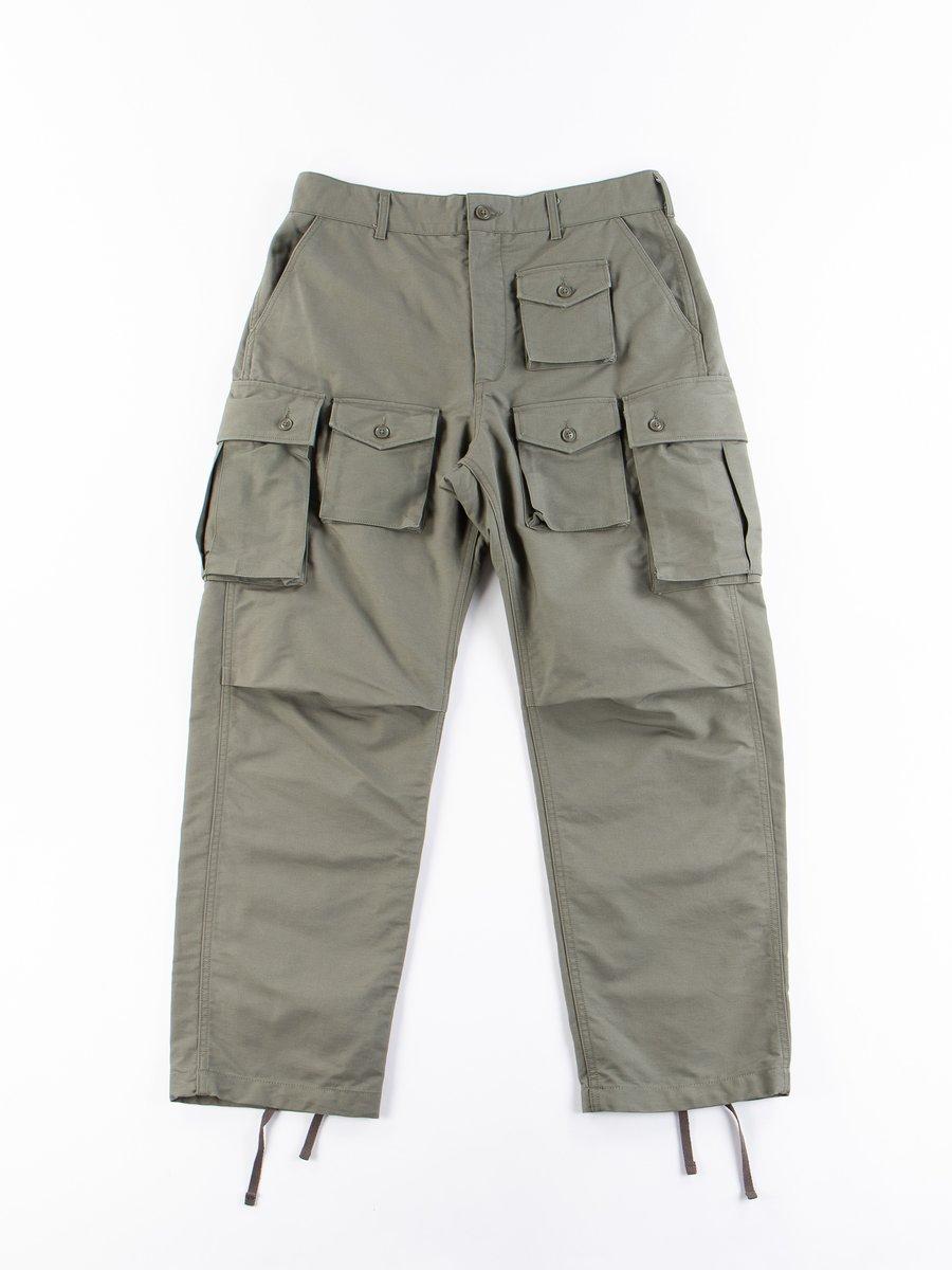 Olive Cotton Double Cloth FA Pant