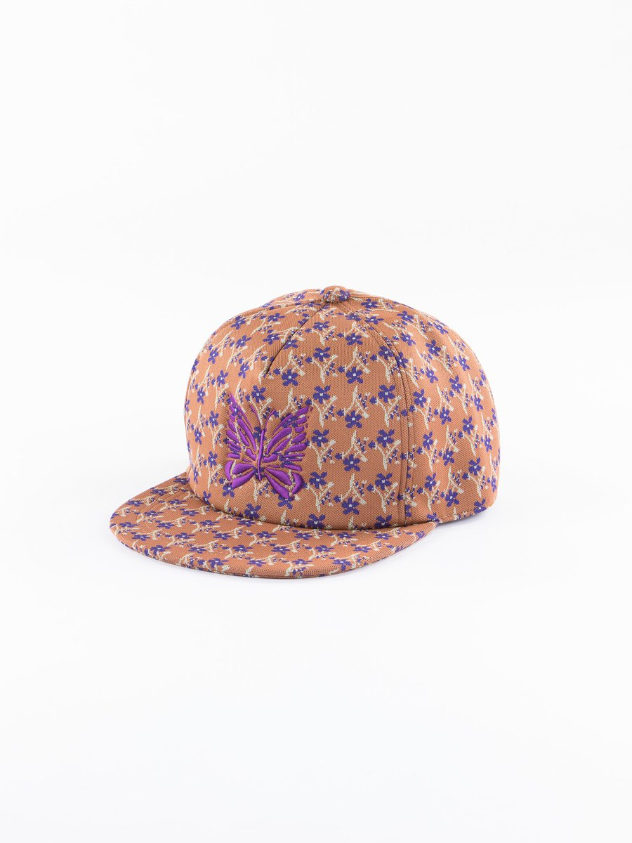Brown Poly Jacquard/Floret Trucker Cap