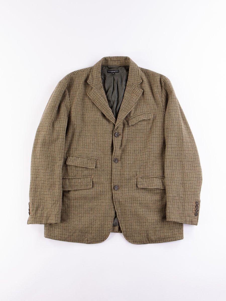 Tan Green Wool Gunclub Check Andover Jacket
