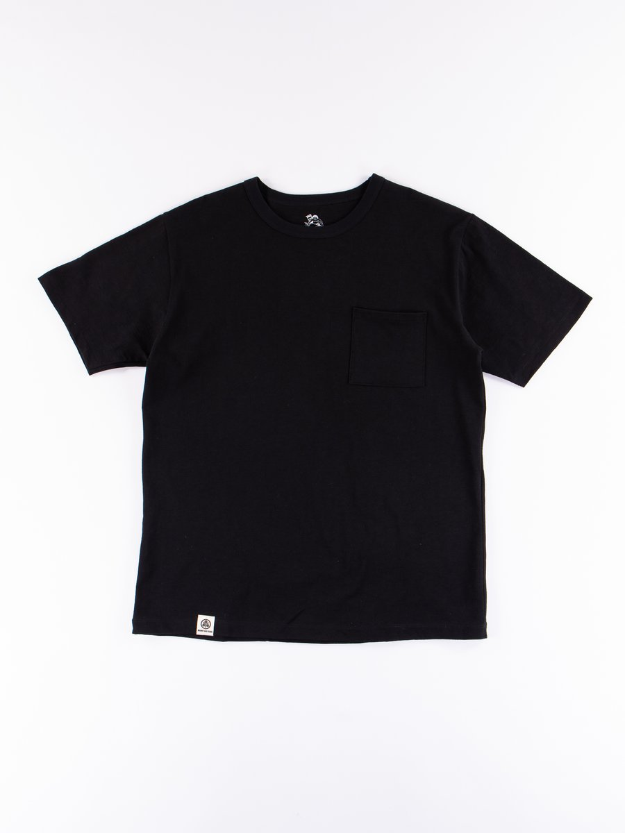 Black Zimbabwe Cotton Pocket T–Shirt
