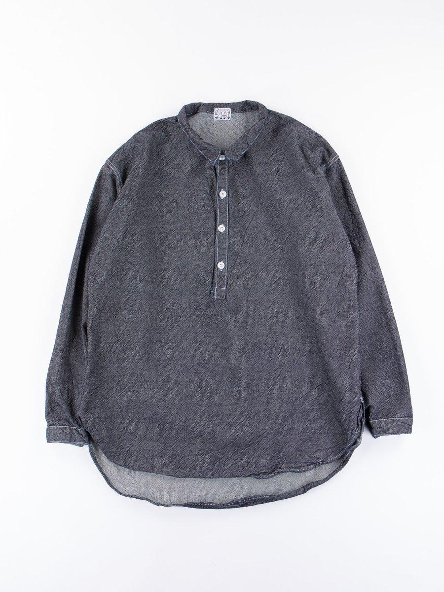 Rinse Wash Long Sleeve Pullover Split Tail Shirt