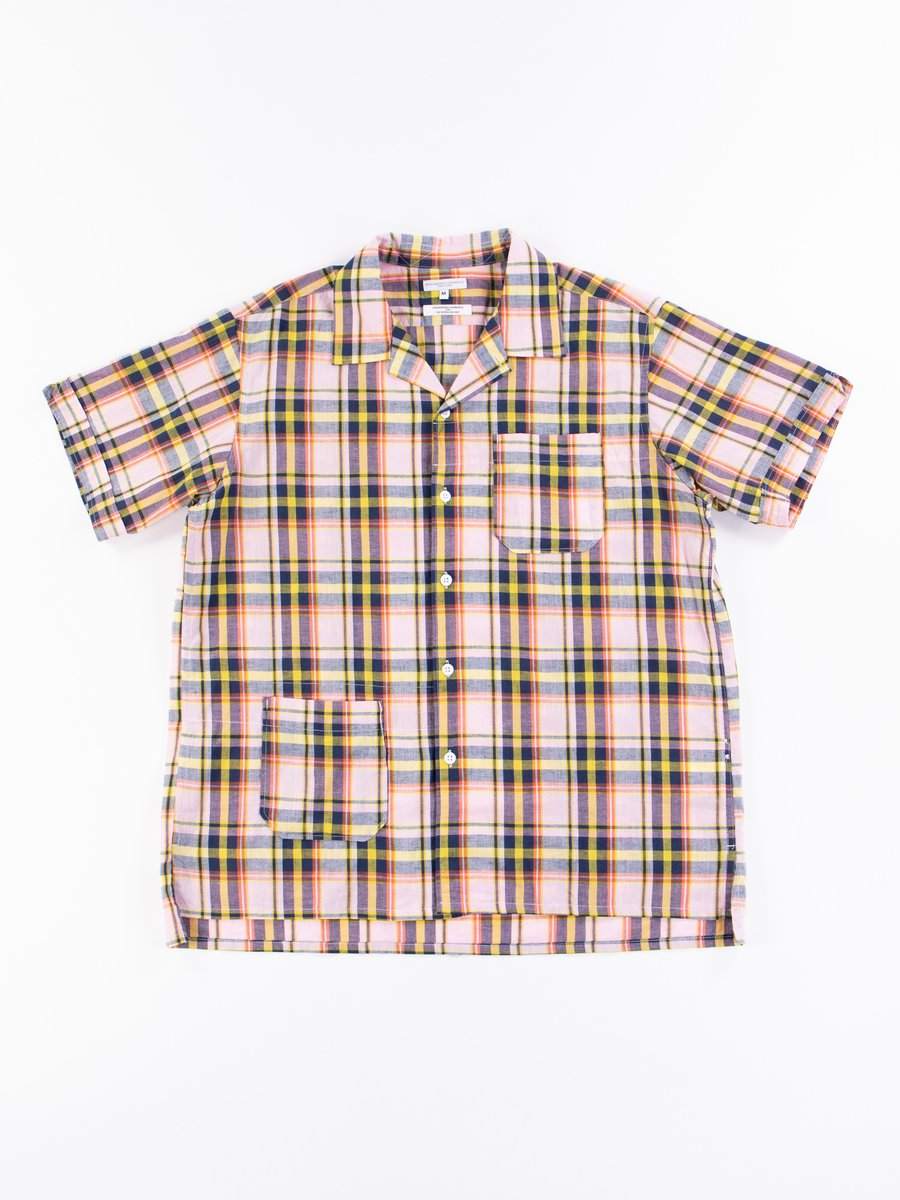 Pink/Yellow CL Madras Plaid Camp Shirt