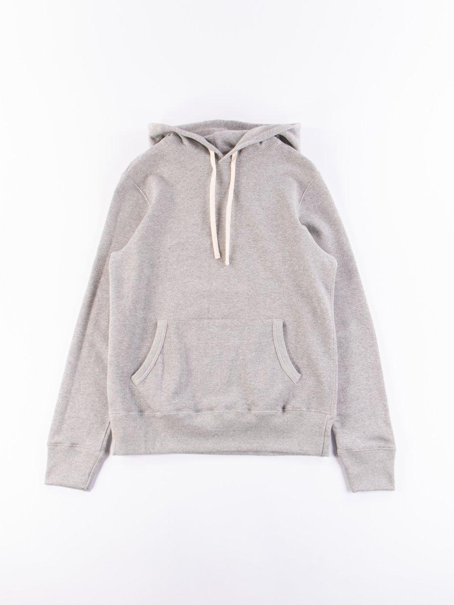 Grey Melange 382 Organic Cotton Hooded Sweatshirt