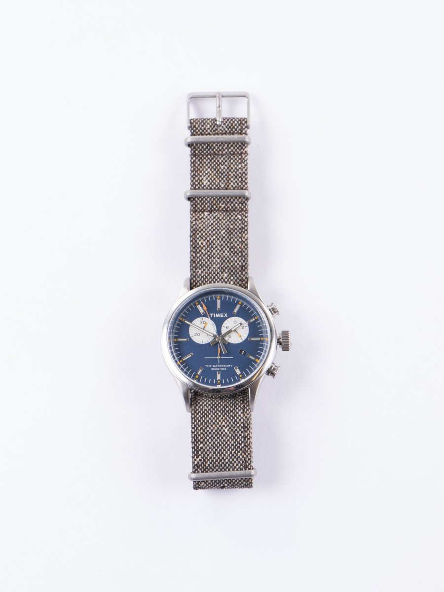 Steel/Blue w/ Black Strap Waterbury Chrono Watch