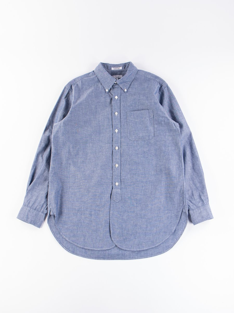Blue Cotton Chambray 19th Century BD Shirt
