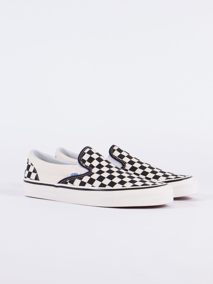 Black/White Checkerboard Anaheim Factory Classic Slip On 98 DX