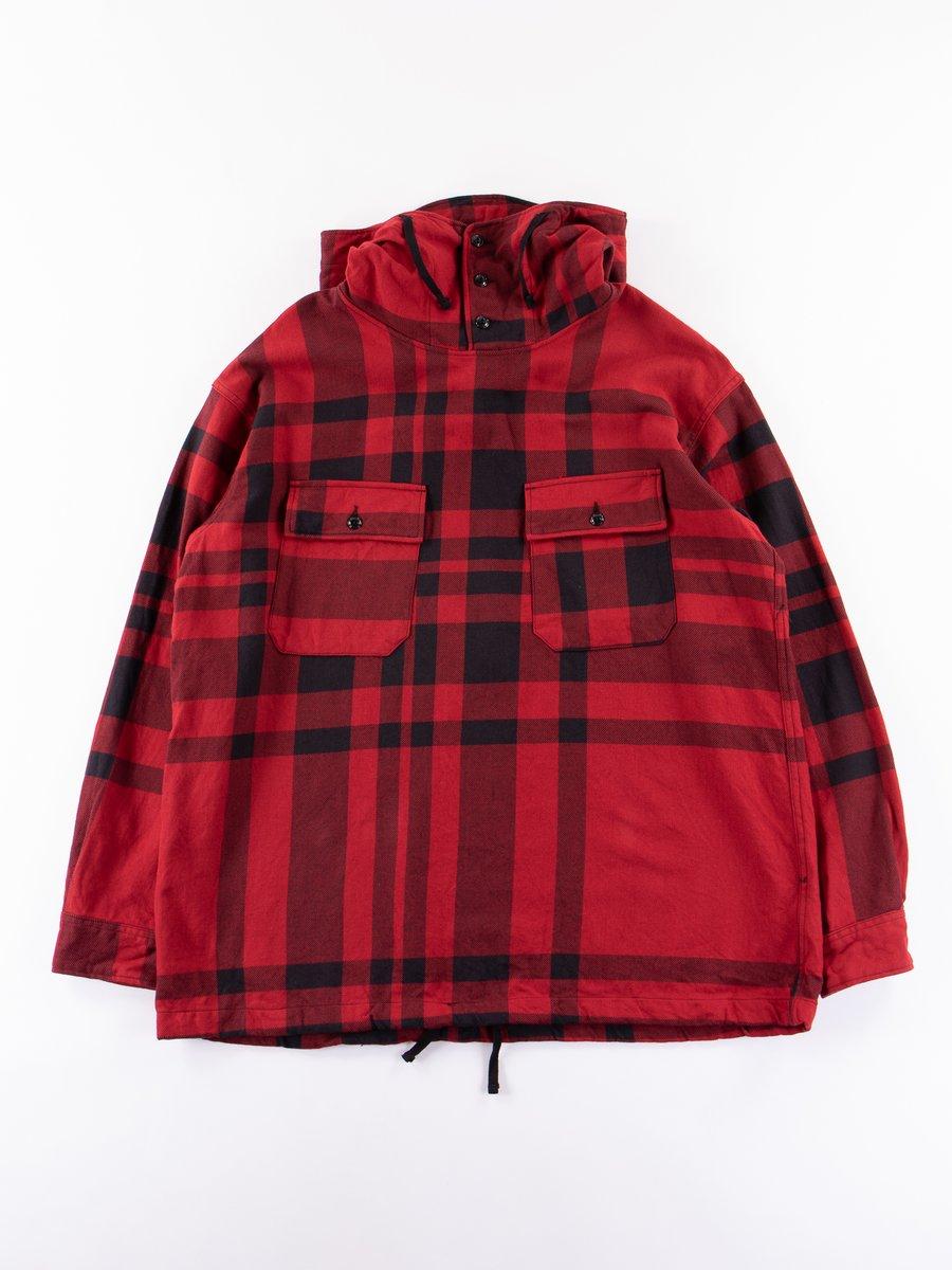 Red/Black Big Plaid Cagoule Shirt