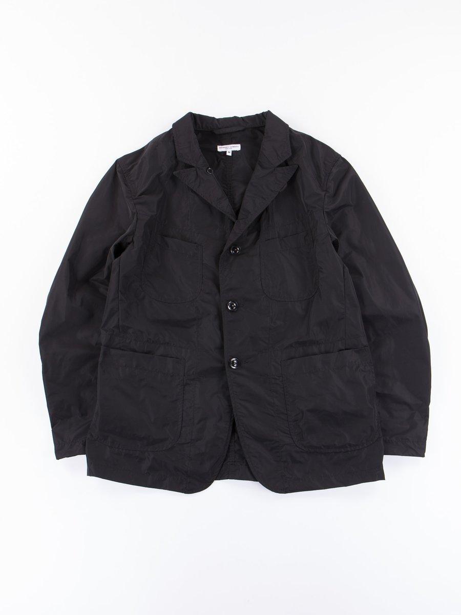 Black Memory Polyester Bedford Jacket