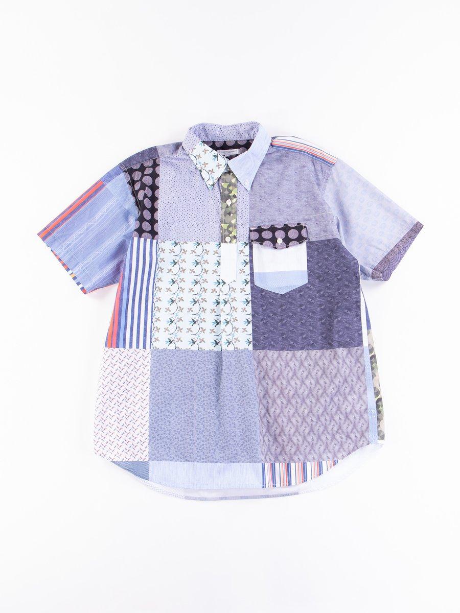 Multi Random Square Patchwork Popover BD Shirt