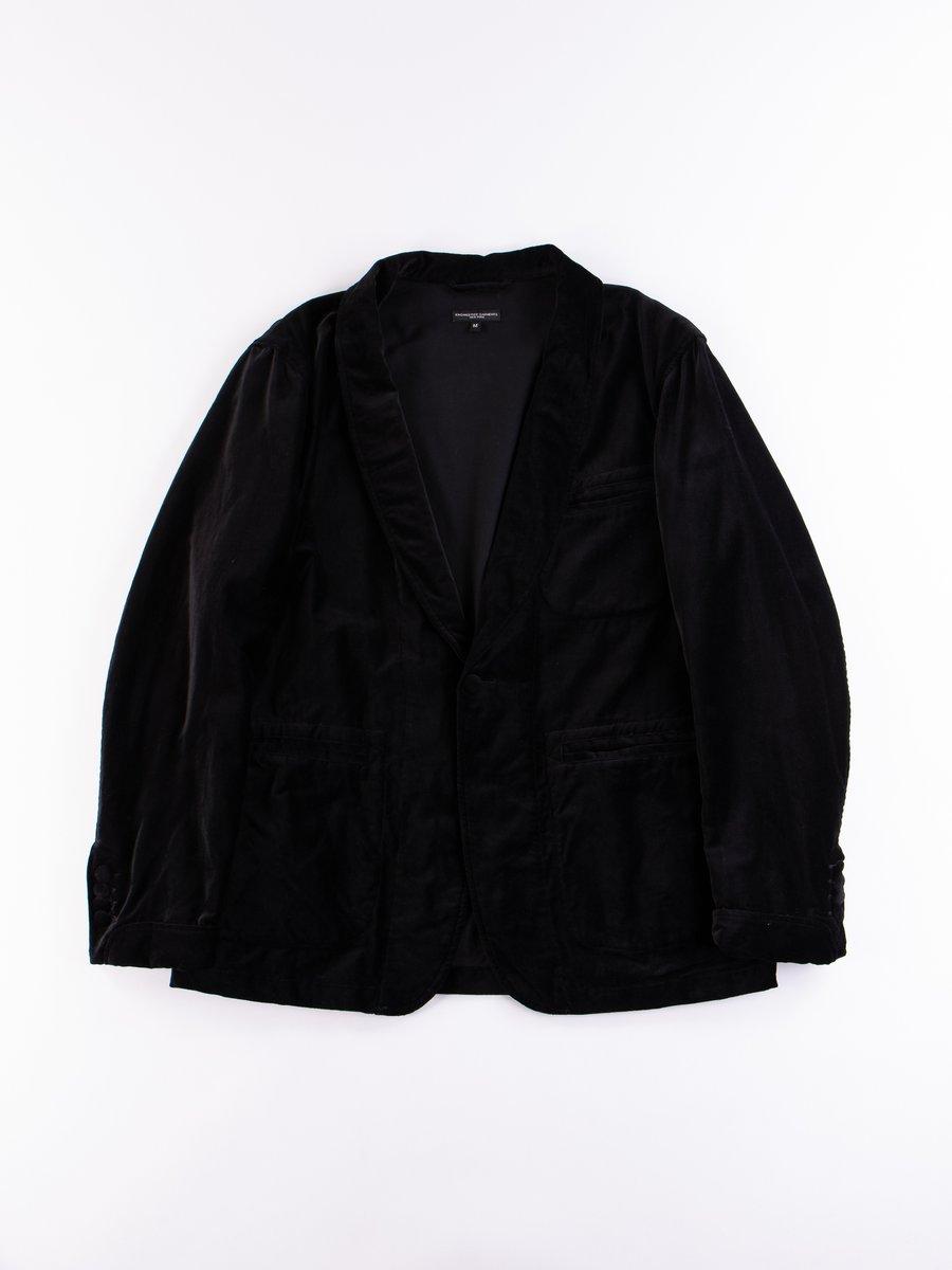 Black Cotton Velveteen SD Jacket