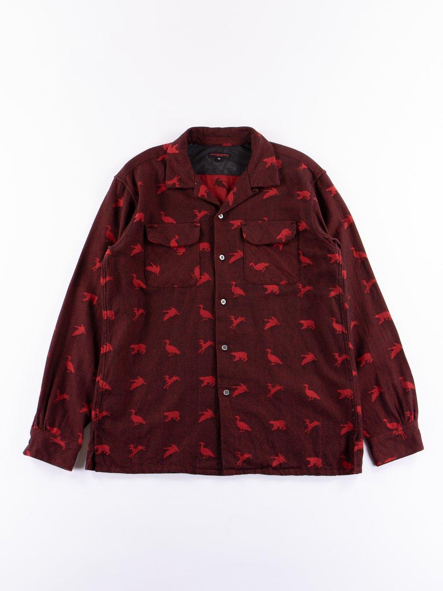 Black/Red Game Animal Jacquard Classic Shirt