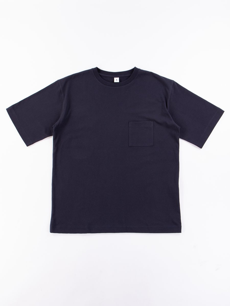 Navy Crew Neck Pocket Tee