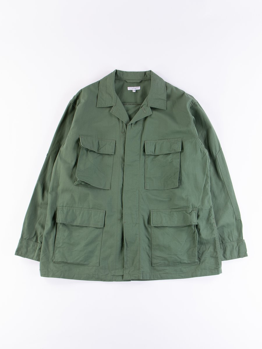 Olive Cotton Ripstop BDU Jacket