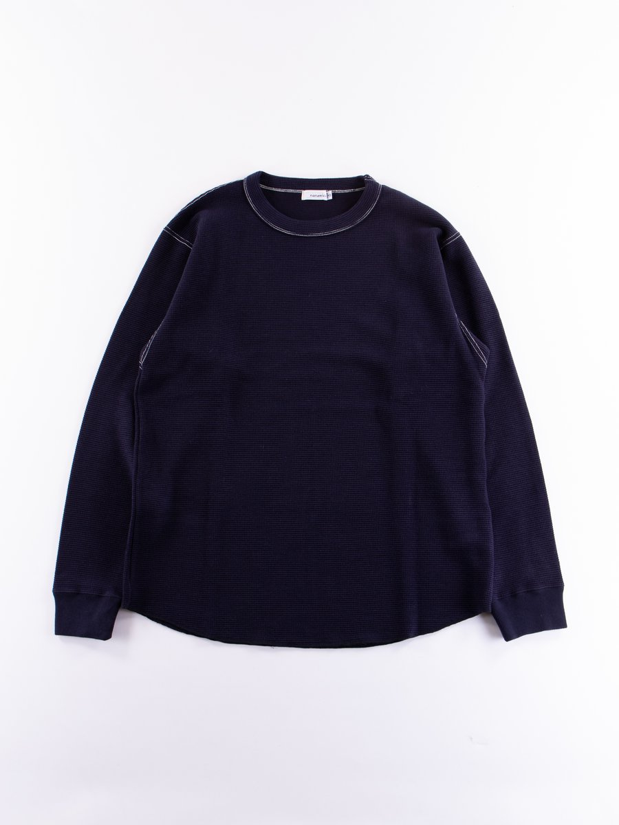 Navy Crew Neck Long Sleeve Shirt