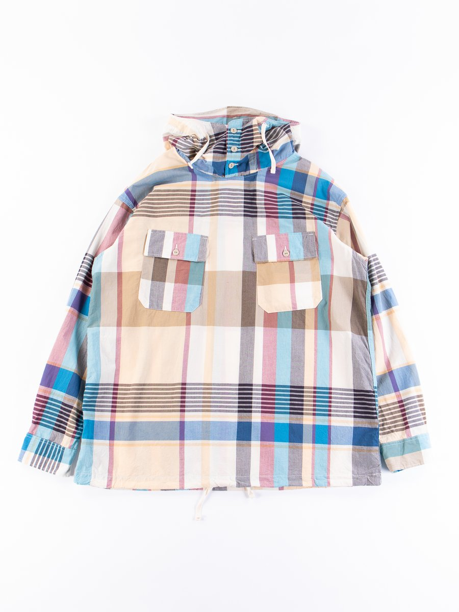 Khaki Big Madras Plaid Cagoule Shirt