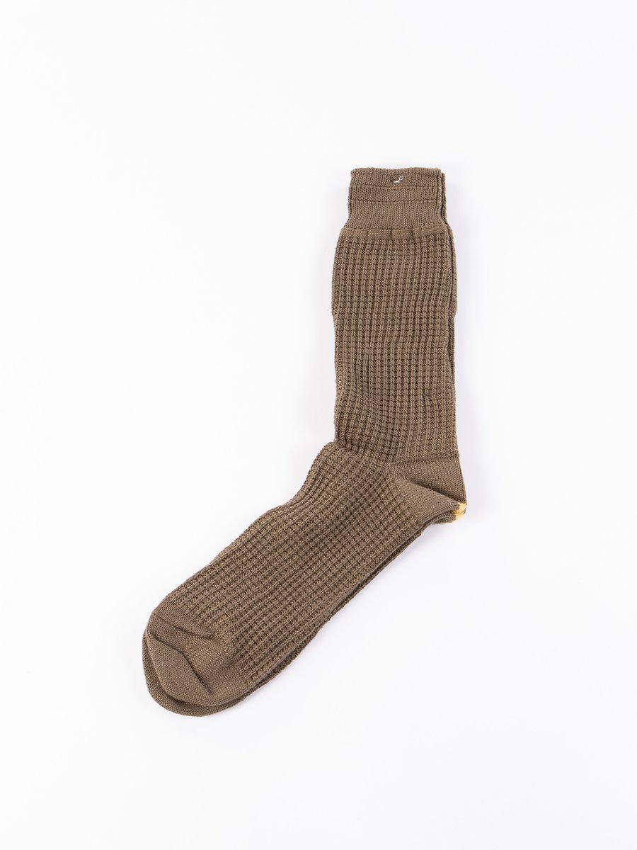 Olive Thermal Crew Socks