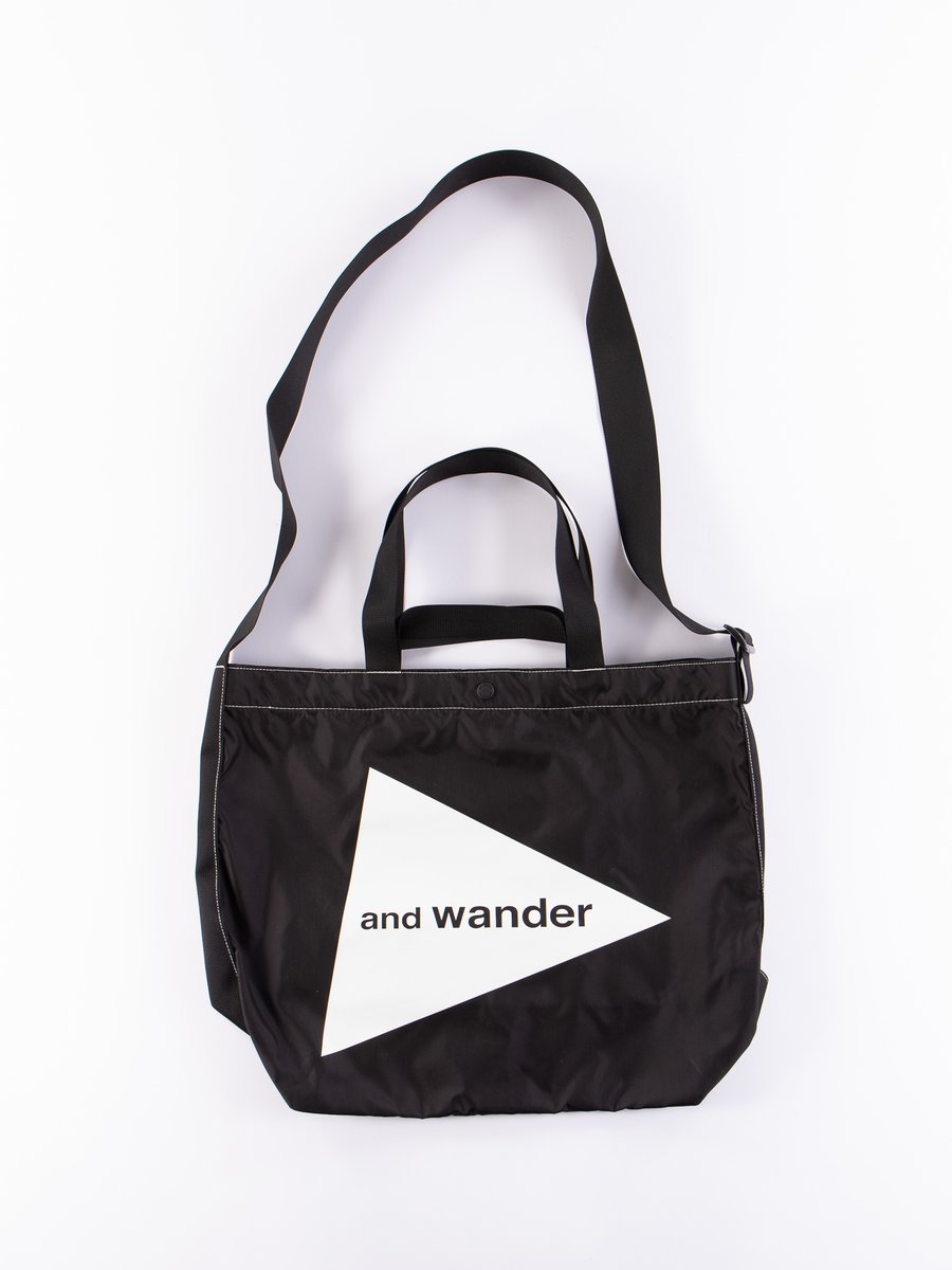 Black Large Logo Tote Bag