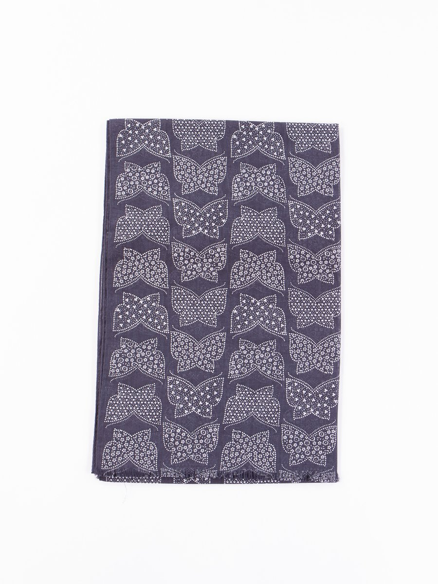 Charcoal Cotton Gauze Stole