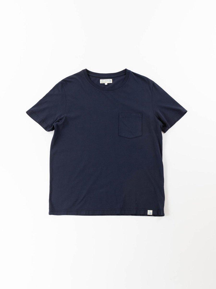 GOOD BASICS CREW NECK POCKET T–SHIRT DEEP BLUE