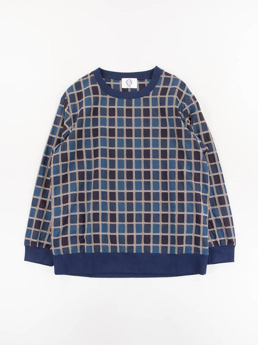 Indigo Check Pullover Shirt