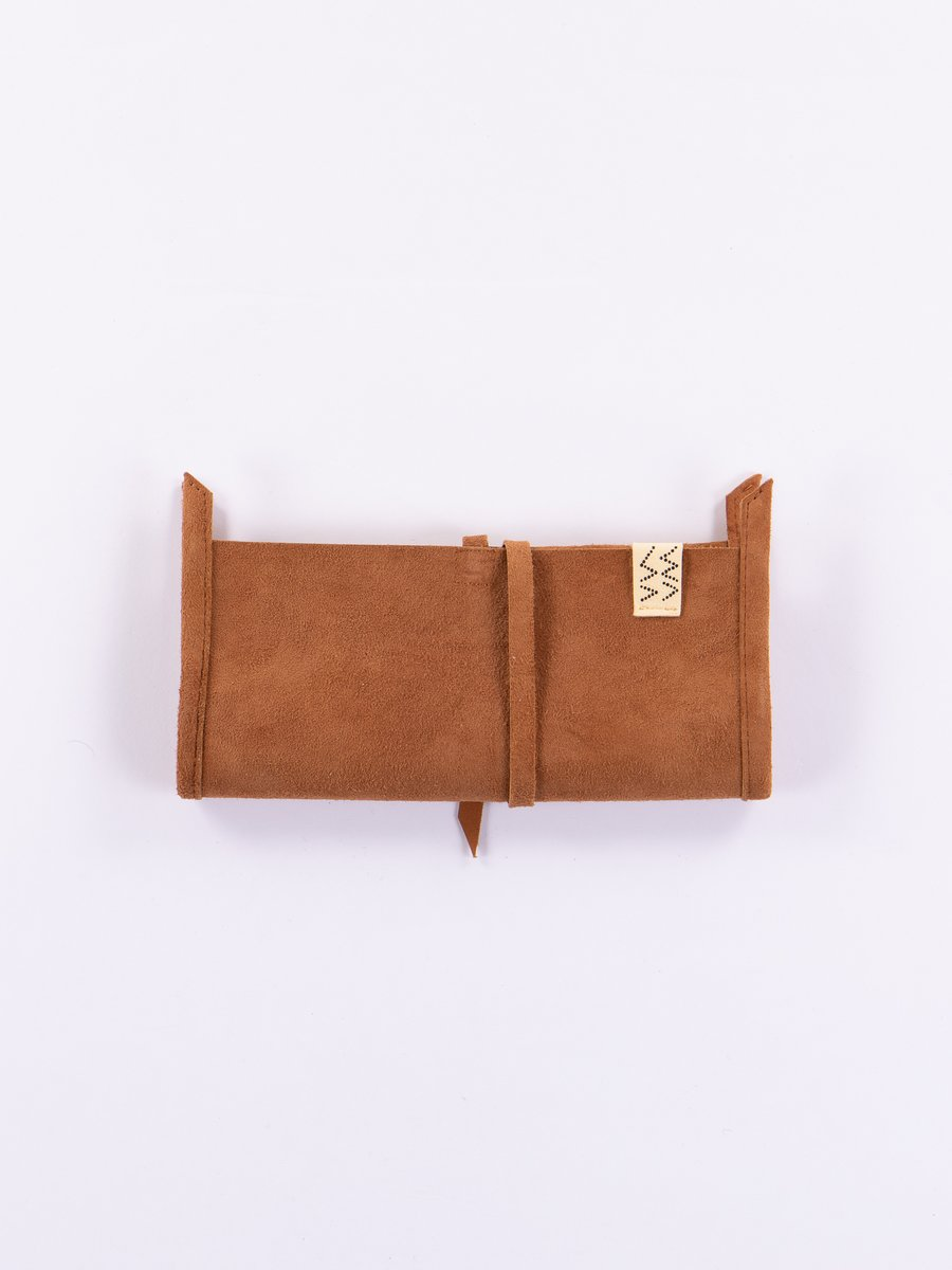 Light Brown Wrap Wallet