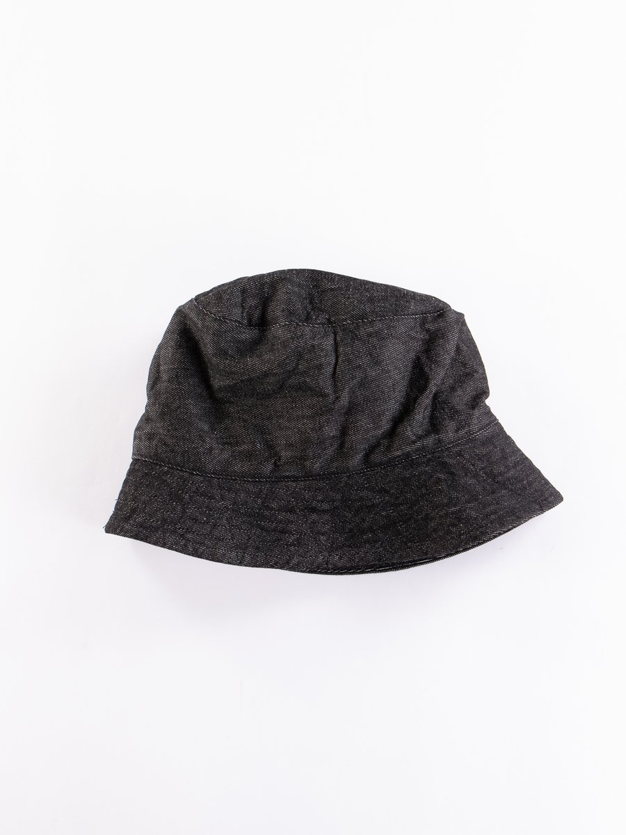 Black 12oz Cone Denim Bucket Hat
