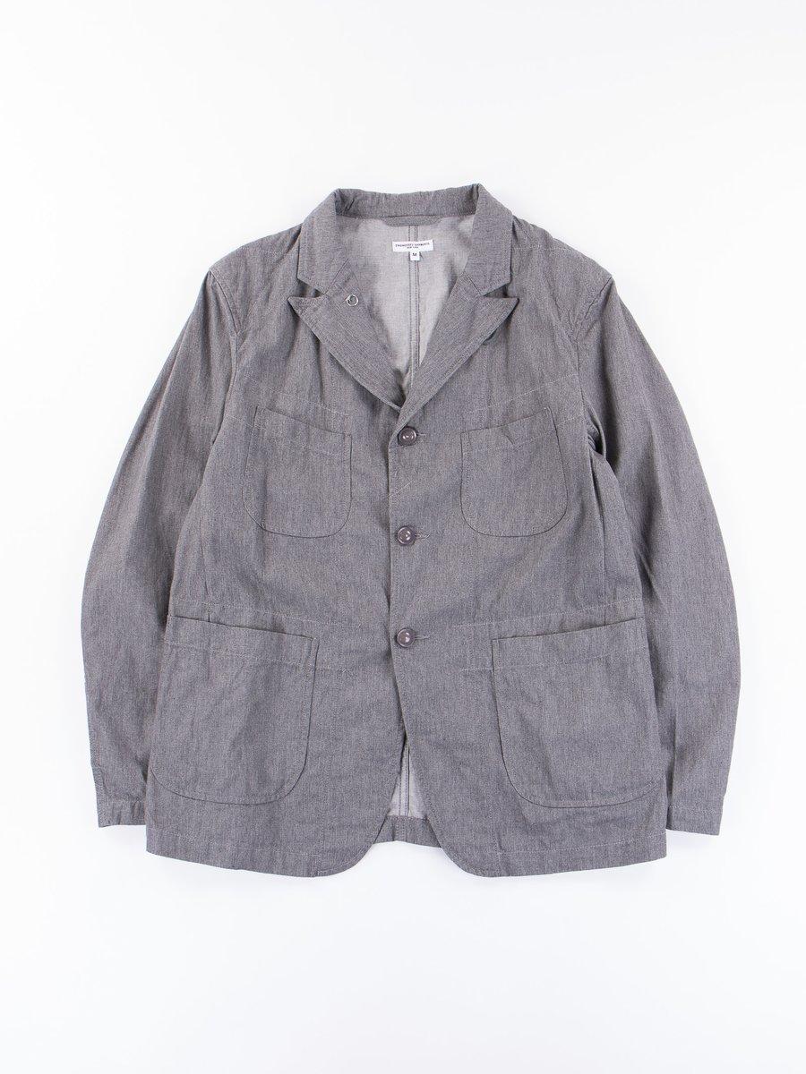 Dark Heather Grey 7.5oz Twill Bedford Jacket