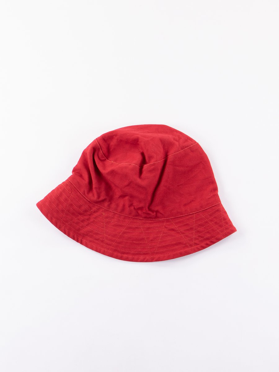 Red 12oz Duck Canvas Bucket Hat