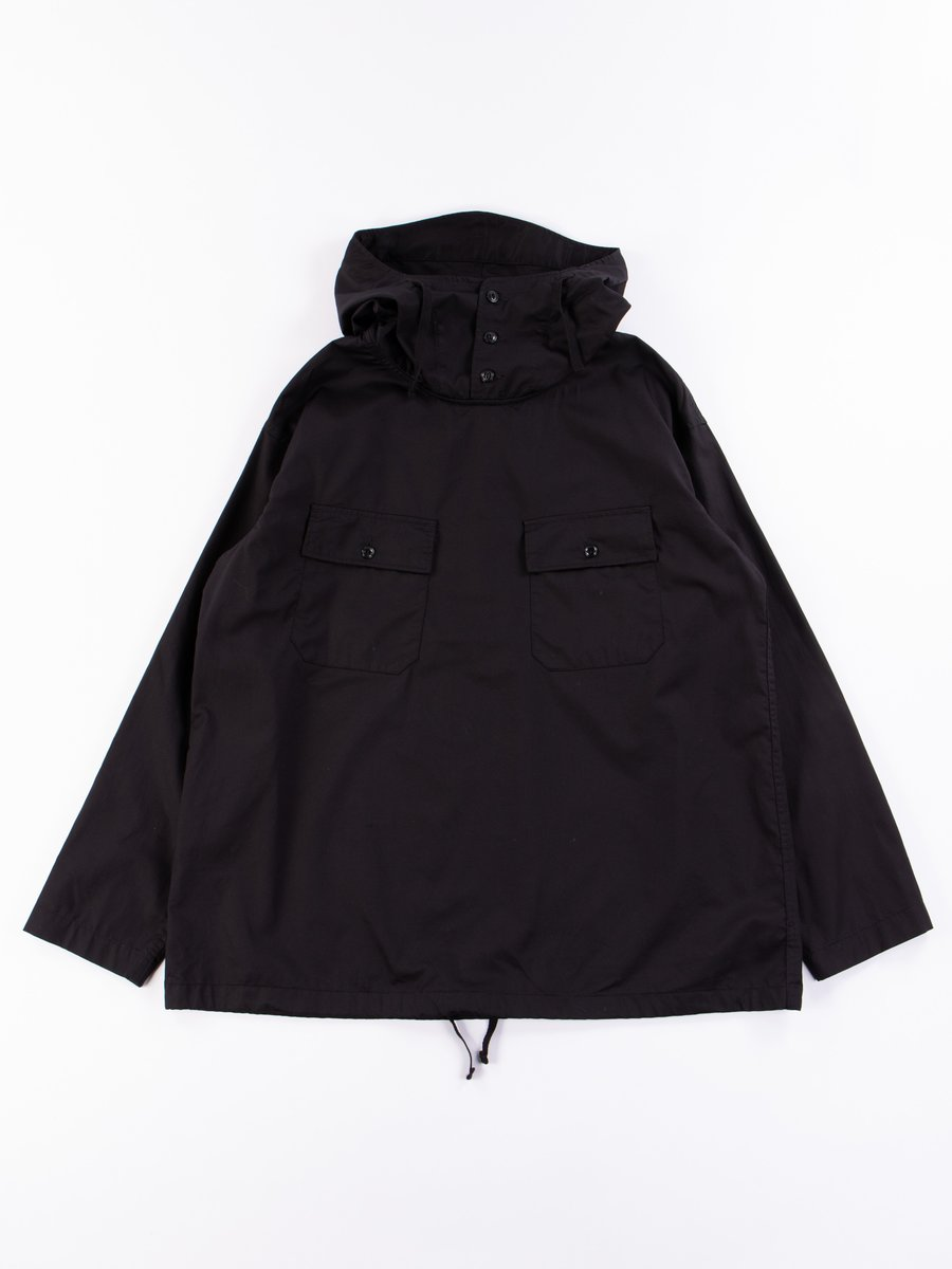 Black Cotton Nano Twill Cagoule Shirt