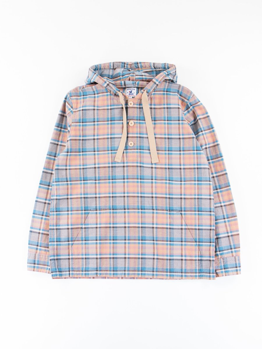 Blue/Orange Broadcloth Toast Check Jacket