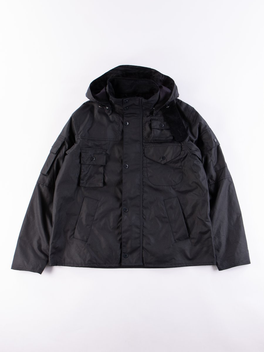 Navy Cowen Wax Jacket