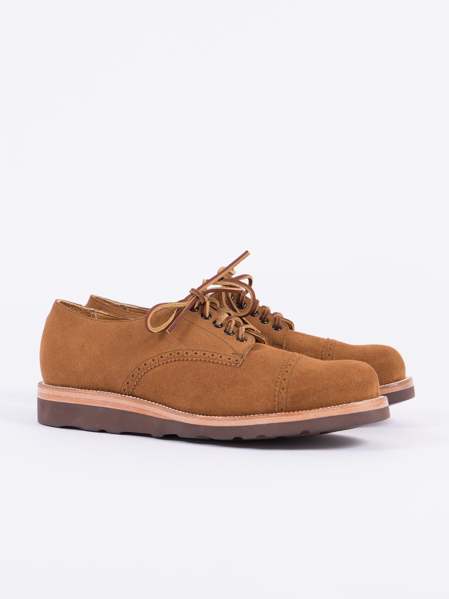 Golden Brown Suede Johnson Ox Shoe